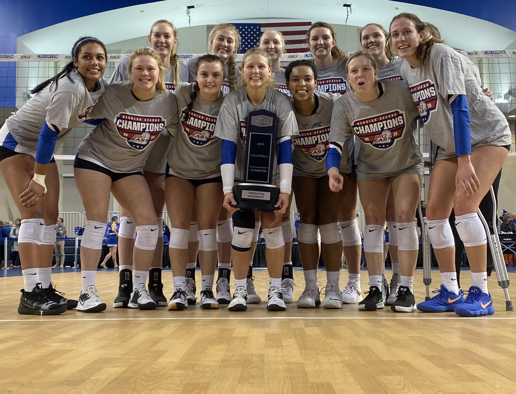 12 Volleyball Secures Sixth Consecutive Big East Crown With 3 1 Win Over 9 Marquette Creighton University Athletics